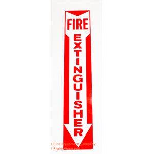 Sign,Aluminum,Fire Extg,4x18,A