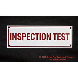 Sign,Aluminum,Inspection Test,