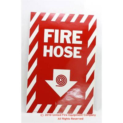 Sign,Vinyl,Fire Hose,8x12