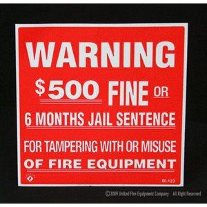 Sign,Vinyl,Warning / $500 Fine,4