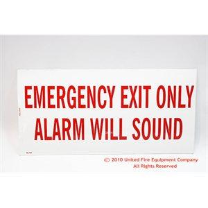 Sign,Vinyl,Exit / Alarm,12x6