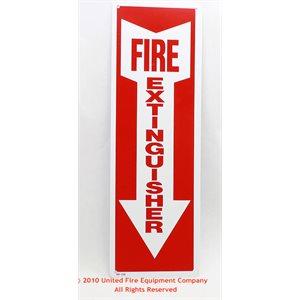 Sign,Plastic,Fire Extg,4x12,Ar