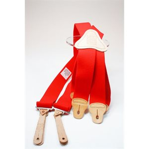 Suspenders, 4-Way Stretch Red
